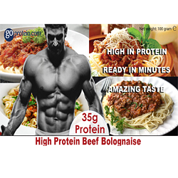 High Performance Meals of Protein Beef Bolognese (JUST ADD HOT WATER)