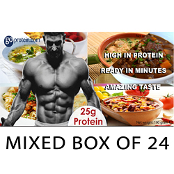 24 Pouches in a Mixed Box of High Protein Meals