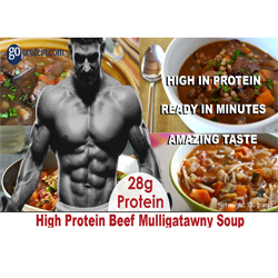 High Protein Beef Mulligatawny Soup