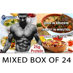 24 Pouches of High Performance Meals in a Mixed Box of Protein Meals (JUST ADD HOT WATER)