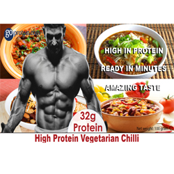 High Performance Meals of Protein Vegetarian Chilli (JUST ADD HOT WATER)